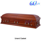 Mahogany Veneer Matt Gloss Wholesale Chinese Coffin and Casket