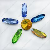 Crystal Point Back Long Oval Bead (DZ-3014)