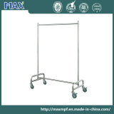 Heavy Duty Chrome Coat Display Clothes Hanger Rack Rubberised Lockable Wheels