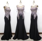 D1182 Embroidery Rhinestone Sexy Evening Dresses Mermaid Bridesmaid Dress Formal Party Gowns