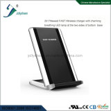 2017 Latest Hot-Selling Fast Wireless Charger Black and PMMA Housing Fashionable with LED Breathing Lamp