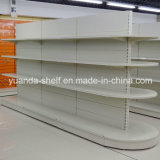 Supermarket Shopping Display Half Round Gondola Metal Shelf