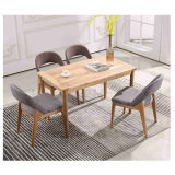 Modern Wool & Solidwood Leisure Dining Chair for Living Room