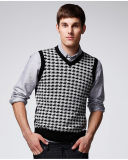 ODM Jacquard V Neck Vest Man Sweater