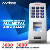 Full Metal Waterproof Outdoor Multi Biometric Fingerpirnt Access Control System Time Attendance with Keypad Fingerpirnt Reader