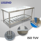 Assembling Stainless Steel Work Table with Patent Fiberboard