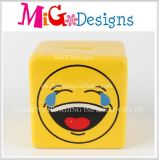 China Big Supplier Ceramic Smile Face Money Saving Bank