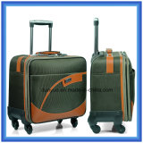Promotional Waterproof Nylon Travel Luggage Case with PU Trims, Factory Make Carry-on Trolley Bag with Wheels