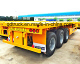 20/40 Feet 3 Axles Flat Bed Container Semi Trailer