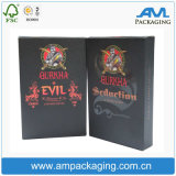 Luxury Cardbord Box Custom Logo Brand New Black Cigarette Packaging Box