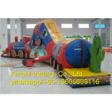 PVC Tarpaulin, PVC Material and Slide Type Inflatable Obstacle for Kids