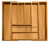 100% Natural Bamboo Box for Kitchen Drawer Organizer Expandable & Utensil Organizer
