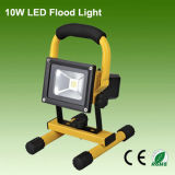 Rechargeable IP65 10W LED Floodlight for Outdoor Lighting
