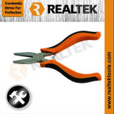 Nickel-Planted Mini Flat Nose Pliers with Bi-Color Plastic Handles