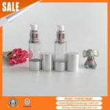 Luxury Cylinder Plastic Airless Serum Pump Bottle