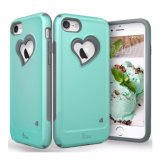 Vena Heart-Shape Dual Layer Protection Hybrid Bumper Cover for iPhone7
