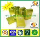 Cardboard sliding gold gift box perfume packaging