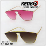 One Piece Lens Frame with Fashionable Temple Design Sunglasses Km17097
