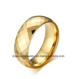 Mirrow Polish Faceted Tungsten Ring Diamond Shape