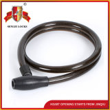 Jq8221 Black Color High Quality Bicycle Lock Motorcycle Steel Cable Lock