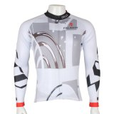 White Geometric Simple Cool Sports Jacket Tops Men′s Cycling Jersey