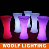 LED Glowing Plastic High Illuminated Top Cocktail Table