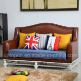 Upscale Living Room Sofa Set with Fabric and PU Leather Upholstery (SP-KS363)