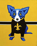 Art Blue Dog Series by George Rodrigue Oil Painting Prints on Canvas