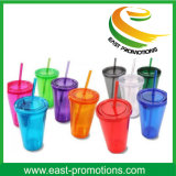 Best Selling Items Customized Logo Plastic Juice Drink Bottle with Straw