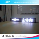 P6 White Color Programmable Taxi Rear Window Moving LED Sign