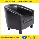 Leather Sofa Cafe Chair Single Seat for Restaurant Hotel