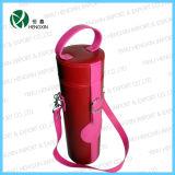 Portable PU Leather Wine Case (HX-G089)