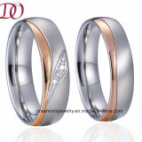 IP Rose Gold Plated Jewelry Ring Fine Wedding Band Promise Ring for Men and Women
