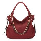 Wine Red Shoulder Unique Chain Designer Handbags (MBNO035063)