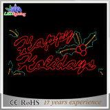 New Christmas Decoration 2D Motif Merry Christmas Letter Lights