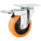 Double Brake Medium Duty PVC Caster (KMX4-M13)