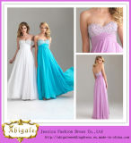 Flowing Chiffon Empire Sweetheart Sequins Floor Length Colorful Evening Dresses for Pregnant Women (LH0013)