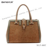Classic Lady′s PU Handbag with Big Capacity Semi Fixed Bag Good Raw Material Excellent Workmanship Fast Delivery Time Best Service