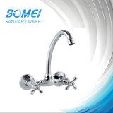 Double Handle Wall Sink Mixer Faucet (BM57502)