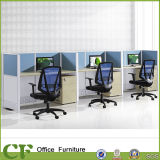 Modular Linear Shape Office 3 Seater Workstation with Partition