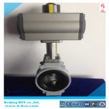 JIS10k Alloy Aluminum Buuterfly Valve with Pneumatic Model: BCT-Alu-BFV04
