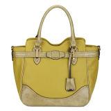 Contrast Color Woman Fashion Tote Handbag (MBLX031064)