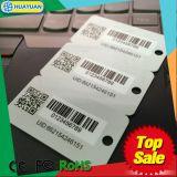 Free samples variable barcode, QR code printing Plastic Key Tag Card for hotel, loyalty