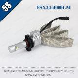 Lmusonu Wholesale Auto Parts 4000lm Psx24 LED Headlight Phi Zes Chip High Power LED Auto Headlight