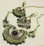Stone Necklace and Earrings Sets/ Fashion Jewelry Sets/ Crystal and Stones Necklace Sets (XJW12244)
