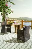 Outdoor Wicker Patio Furniture Auckland / Balcony Dining Set Rattan Chairs Table (J375R)