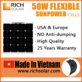 50W Flexible Solar Panel Sunpower Solar Cell Made in Vietnam