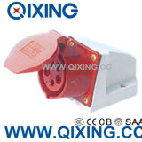 Cee 16A Red 400V Three Phase Wall Mountedoutlet Plug