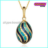 New Custom Wholesale Alloy Enamel Jewellery Faberge Egg Necklace Pendant