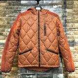 Fashion Clothing Dirty Garment Dye Zipper Closure Men Winter Coat with Hood